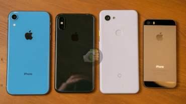 iPhone XR, iPhone XS, Google Pixel 3 Lite & iPhone 5S