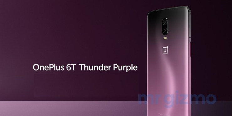 This is how the OnePlus 6T in Thunder Purple looks like 1