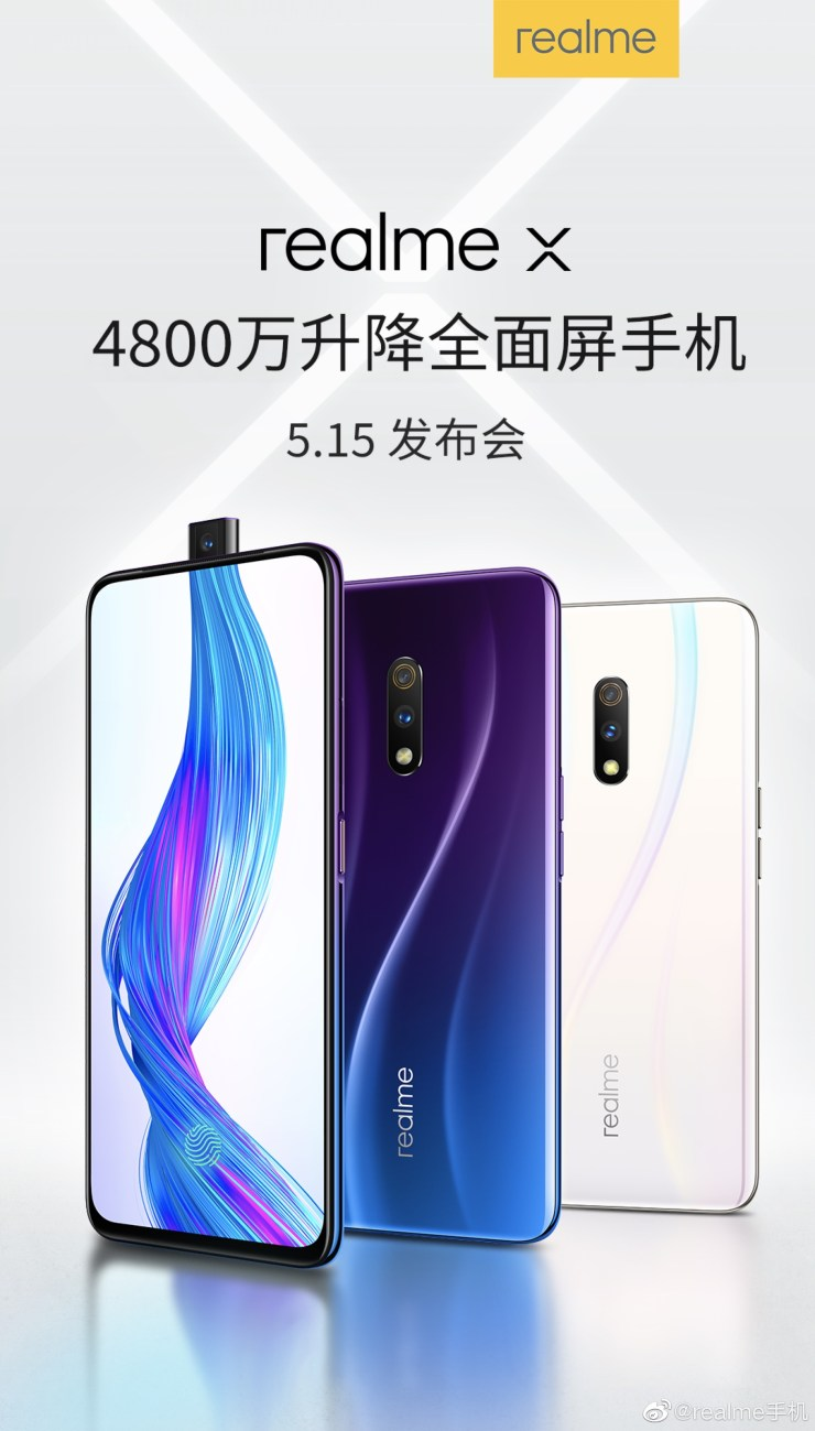 Realme X official render & live images shared by the company 1