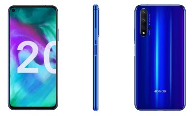 Honor 20 press renders reveal quad cameras & side-facing fingerprint scanner 3