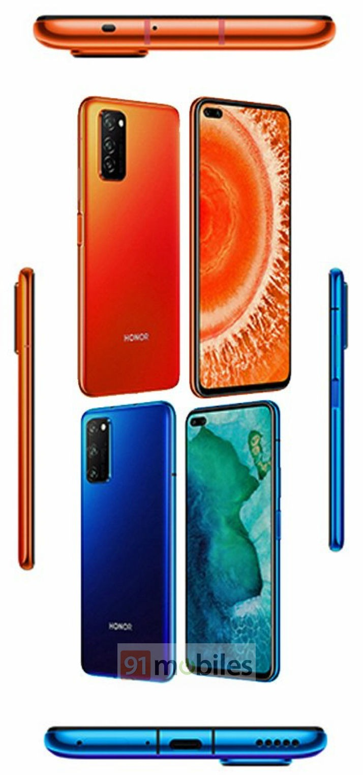 Honor V30 Press Renders