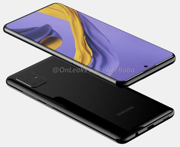 Samsung Galaxy A51 CAD Render