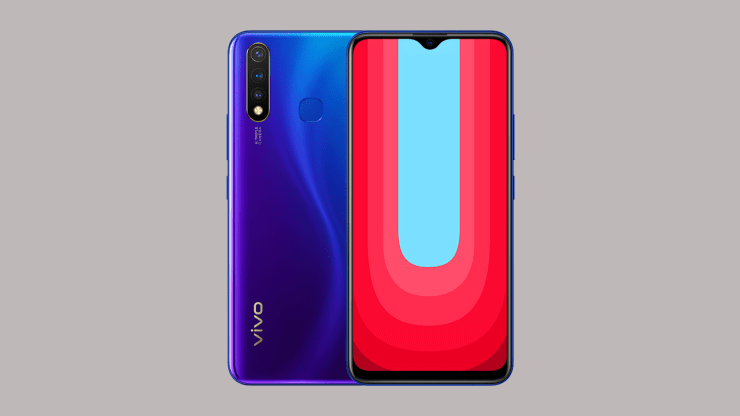 Vivo U20 in Blue
