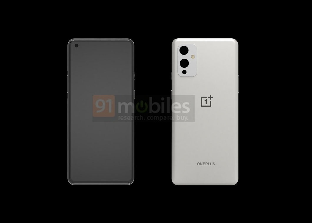 OnePlus 9 CAD Render Shows The Design From Front & Back