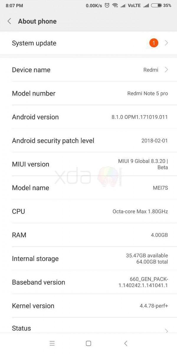 android 8 xiaomi redmi note 4 global