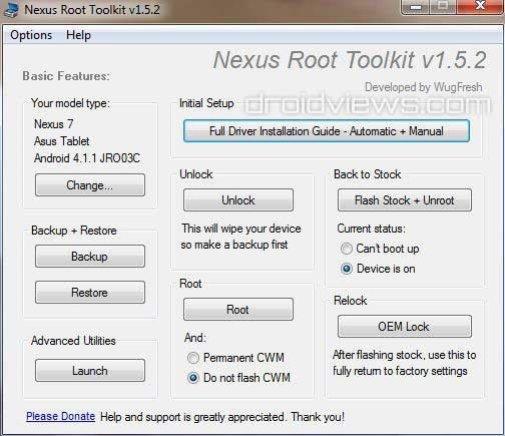 Root-Toolkit für Google Nexus 7