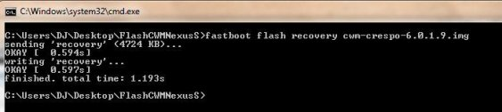 Fastboot Flash Recovery in cmd