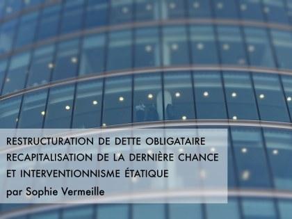 Restructuration obligataire et recapitalisation