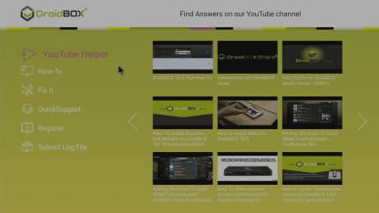 DroidBOX® Control Centre YouTube Helper