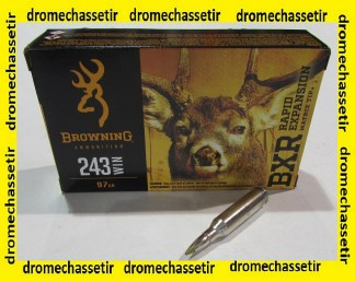 boite de 20 cartouches Browning BXR cal 243 winchester