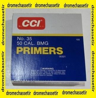 plaquette de 100 amorces CCI 35 special calibre 50 BMG (12