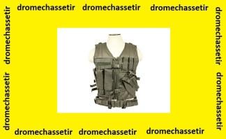 Gilet tactique Large avec holster et pochettes taille XL (gris anthracite )