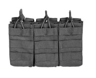 Triple porte chargeurs fusil d'assaut (noir)