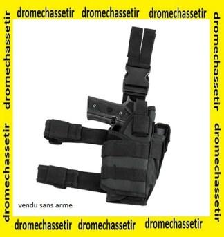 Holster de cuisse ajustable pour pistolet et porte chargeur
