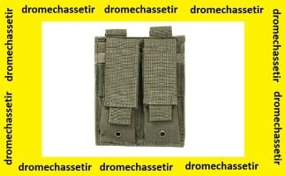 Double porte chargeur (gris foncé) avec attache pour passant molle