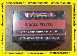 Pack de 1500 amorces Fiocchi Small pistol