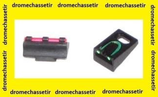 Kit Hausse rouge + hausse a fibre verte pour carabine remington avant 2003