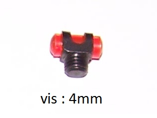 Mire rouge pour fusil avec vis de diametre de 4mm