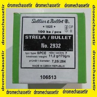 1 boite de 100 ogives Sellier & Bellot