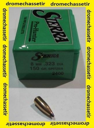 boite de 100 ogives Sierra .323 (8mm)