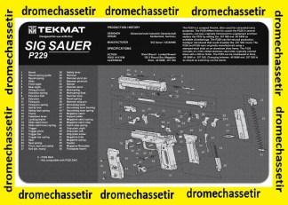Tapis de nettoyage neoprene decor pistolet Sig Sauer P229