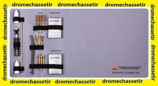 Kit de nettoyage pour pistolet tous calibre avec tapis neoprene