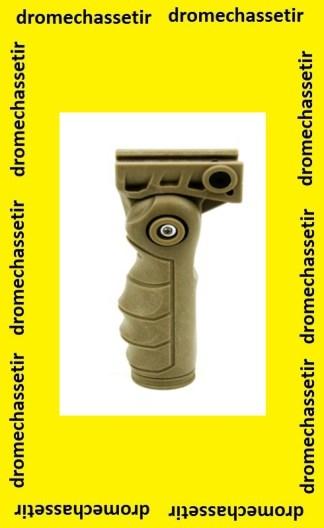 Poignée ergonomique pour rail picatinny de garde main a 5 positions