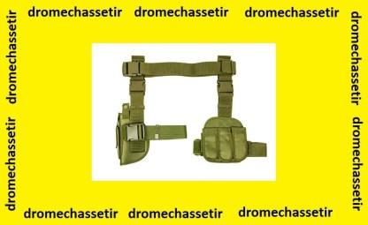 Holster de cuisses avec triple porte chargeurs (vert