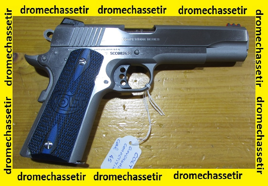 pistolet colt 1911 competition series match inox 45 acp occasion