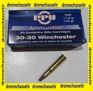 cartouches 30-30 winchetser partizan 170 grains FSP