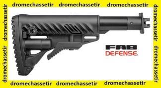 Crosse Fab Defense pour Saiga VEPR 12, retractable et pliante, noire