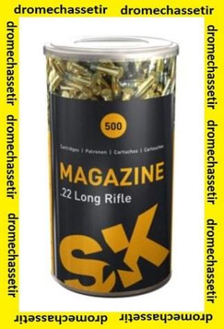 boite 500 cartouches Vrac, SK magazine, cal 22lr, 40 grains LRN