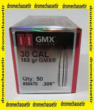 boite de 50 ogives Hornady GMX cal 30 poids 165 grains ref 30470