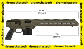 Chassis Aluminium MDT TAC 21 Gen 2 pour remington 700 action courte FDE