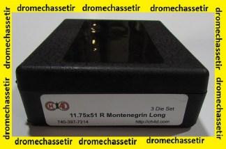 Jeux d'outils CH4D pour le rechargement en calibre 11,75x51R Montenegrin Long