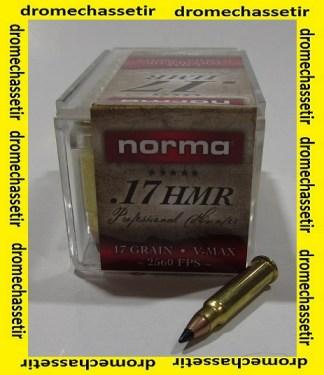 boite 50 cartouches NORMA calibre 17HMR, Vmax 17 grains