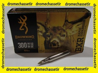 Boite 20 cartouches 300 Winchester Magnum, Browning BXC 155 grains