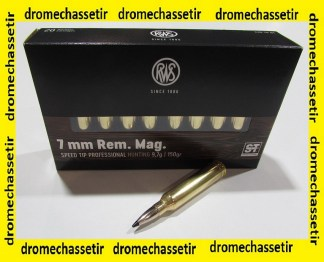 Boite 20 cartouches 7mm Remington Magnum, RWS Speed Tip Pro 150 grains