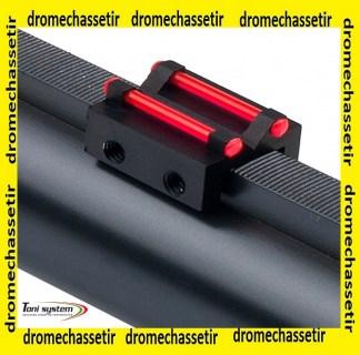 hausse a fixer sur bande ventilée de 8 à 10mm avec 2 fibres rouge fluo