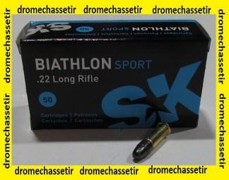 boite 50 cartouches cal 22lr SK Biathlon Sport 40 grains
