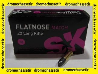 boite 50 cartouches cal 22lr SK Flatnose Match 40 grains