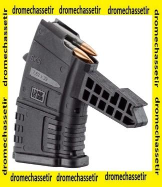 CHARGEUR PUF GUN POUR SKS CAL 7.62X39 10 COUPS NOIR