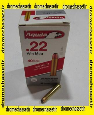 boite de 50 cartouches 22 WMR aguila demi blindee 40 grains