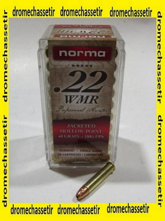 boite de 50 cartouches 22 WMR Norma Jacketed Hollow point 40 grains