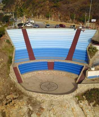Vista aerea del Auditorio al aire libre en sinfonía del mar
