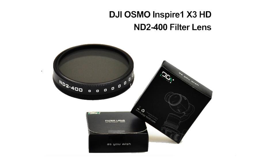 PGY DJI OSMO inspire1 X3 HD ND2-400 ND4 ND8 ND16 CPL MC-UV Lens Filter DJI X3 gimbal Lens Filter 06