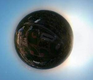 DJIスパーク360度球状パノラマ撮影