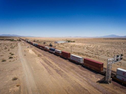 drone las vegas train desert