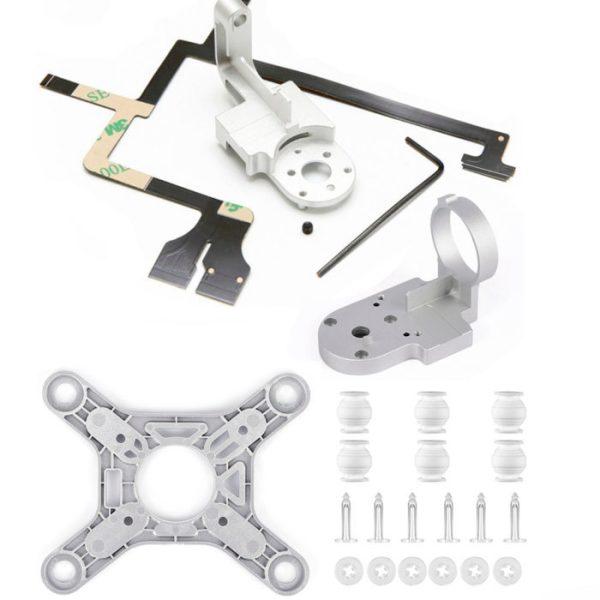 drone-zoom Repair Parts for DJI Phantom 3 Advanced Drone Yaw Arm Roll Bracket Flat Ribbon Flex Cable Gimbal Mount Motor Camera Accessory