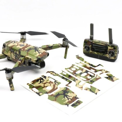 Camo Green Drone Skin Sticker Wrap for DJI Mavic 2 Front Facing with Print Out
